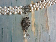 Souvenir Spoon Necklace with Pearls by CindyDean on Etsy, $75.00 souvenir spoon, spoon jewelri