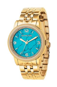 Michael Kors watch w/ turquoise