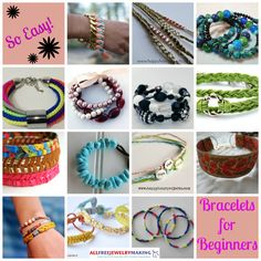 If you love to throw an arm party and accessorize with bracelets, why not learn to make some of your own? DIY bracelets are a fun and budget-friendly alternative to storebought accessories, and they're loads of fun to make and wear! | AllFreeJewelryMaking.com