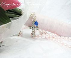 Crystal Cross Bouquet Charm by Keepsakes By Katherine