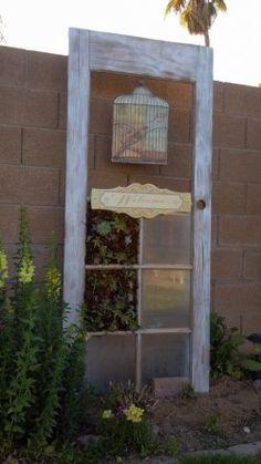 Vintage Door Vertical Succulent Garden | How to Make a Living Wall