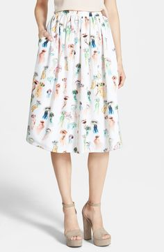 This midi skirt is a great summer to fall transition piece.