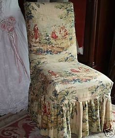 coloured toile cover