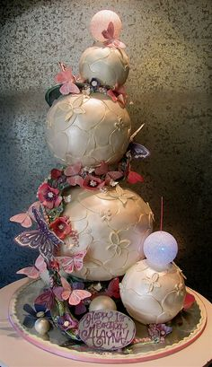 Floating Spheres by Rosebud Cakes - 25 Year Anniversary, via Flickr