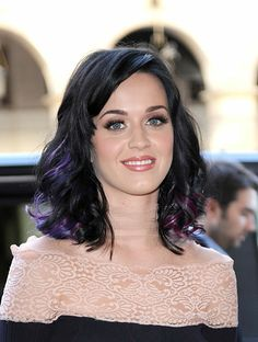 Brown Hair with Purple Underneath | Sure, they're blue and purple and pink and go all the way around her ...