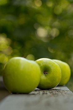 green apples...
