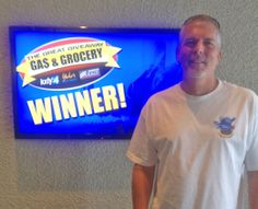 Michael Milacek won $100 in The Great Gas & Grocery Giveaway from KXLY4, Divine's & Yokes.