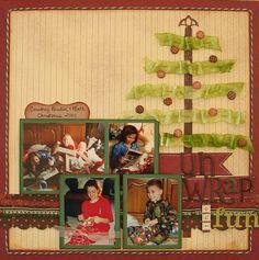 unwrap, christma tree, scrapbook photo, fun, christmas trees