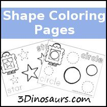 Free Shape Coloring Pages - 3Dinosaurs.com