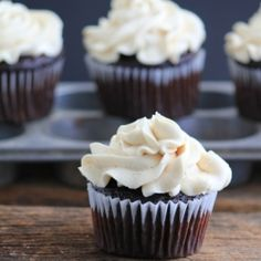 Chocolate Cupcakes with Coffee Buttercream cupcak topper, chocolates ...