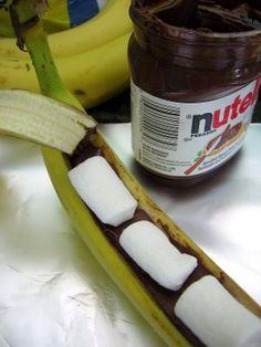 Baked Nutella Bananas