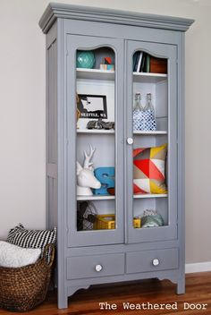 The Weathered Door: A Grey on Grey Cabinet