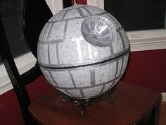 Star wars birthday party- death star piñata and Use the Force on asteroids