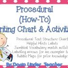FREE Procedural How-To Writing Chart and Activities write chart, procedur text