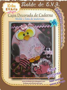 molde de cuaderno buho, tonos marrones y rosa