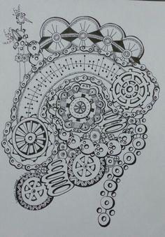 My version - steampunk for Linda . Wendy H. June 2014.
