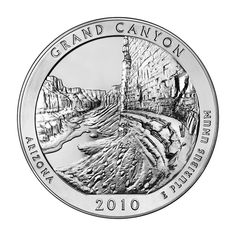 """Reverse of 2010 """"America the Beautiful"""" United States quarter dollar coin, depicting Grand Canyon National Park. Available now at Lear with IRA Eligibility. Call (800) 783-1407 for more info or visit http://www.learcapital.com/encyclopedia/269/moredetail.html"""