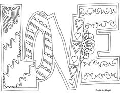love adult coloring page