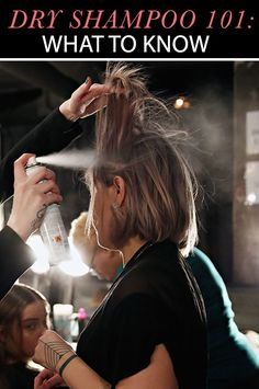 Dry Shampoo - one of my secrets to combat helmet-hair!!