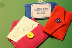 Graduate Gift Card Holder with buttons and phoomph.