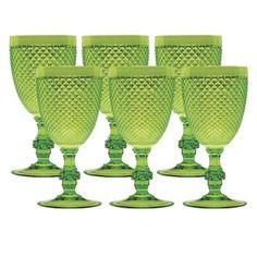 Jogo Taças Acrílico Verde