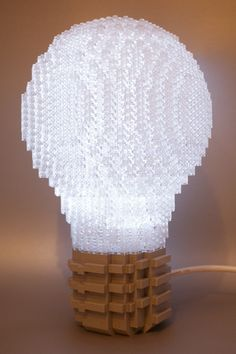 """LEGO Light Bulb - If you ♥ LEGO, come have a look at LEGO LOVE board http://pinterest.com/almaisoncloud9/lego-love - I am the French-Israeli designer of """"Mademoiselle Alma"""". Inspired by my daughter, ALMA, I create Jewelry made from LEGO bricks, SWAROVSKI crystals and of course, a great amount of imagination. *** http://www.facebook.com/MademoiselleAlma Hope you LIKE my Facebook page-shop ♥ & http://www.etsy.com/shop/MademoiselleAlma #LEGO"""