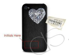 5s case, iphone cases, heart bling, crystal iphon, crystal phone, bling swarovski, iphon case, heart swarovski, swarovski crystals