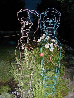 tomato cage art...