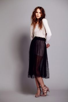 pretty. Free People Raw Tulle Skirt