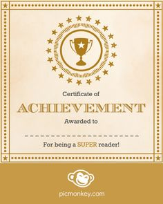 Use Picmonkey's Editor to make your own award certificate for someone special.  Flourishes overlays look nice as a border. Then get creative with Award overlays! Be an overachiever by mixing in some Postal overlays in the Overlays tab.