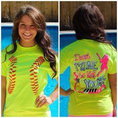 Softball Tee - Neon Yellow $19.99 #SouthernFriedChics