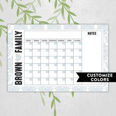 Perpetual calendar - dry erase board organizer