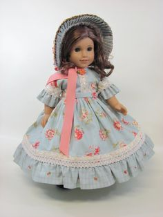 1800's Promenade Ensemble for American by thetoymakersdaughter, $225.00