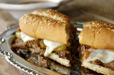 Slow Cooker French Dips   Dixie Chik Cooks