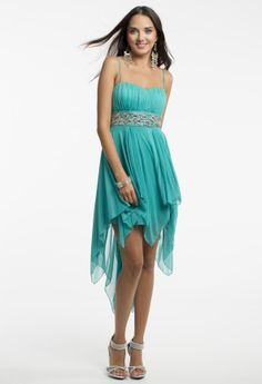 Hanky Hem Dress with Beaded Waist from Camille La Vie and Group USA