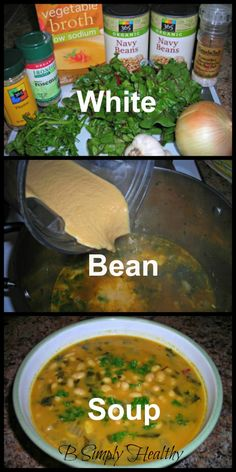 White Bean Soup. Simple, healthy soup!