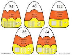 Candy corn place value puzzles!  Great addition to your math centers!   $