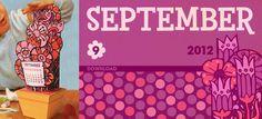September 3-D Flowers Calendar! from Scout Creative!