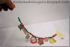 Shrinky dink holiday bracelet. Would be cute for Easter and Halloween too!
