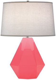 Delta Nickel Schiaparelli Pink Robert Abbey Table Lamp - Euro Style Lighting
