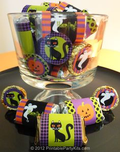 Free printable Halloween mini candy wrappers and Reese's cup labels