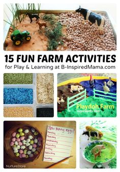 15 Fun Farm Early Learning & Play Ideas - #sponsored by #AmericasFarmers - #kids #learning #binspiredmama #kbn