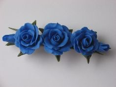 Cold Porcelain Floral French Barrette
