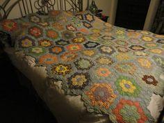 Antique Quilt 1884 Grandmas Flower Garden | eBay