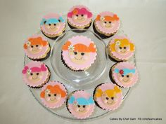 Lalaloopsy cupcakes - easy design - by chefsam @ CakesDecor.com - cake decorating website
