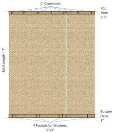 DIY curtains for outdoor pergola.