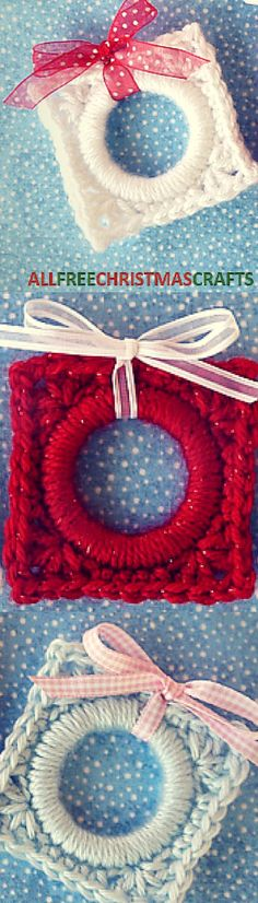 Crochet Present Ornament