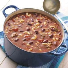 Beefy Bean Soup Recipe | Taste of Home Recipes