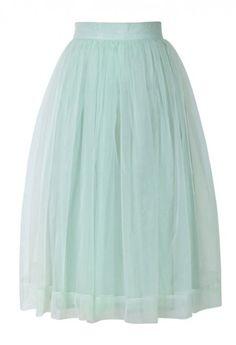 Super Cute Mint Tulle Skirt
