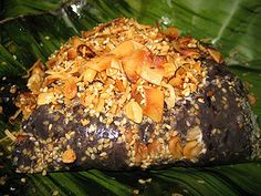 Htamanè	- Burmese savory dessert made from glutinous rice, fried shredded coconuts, peanuts, sesame seeds, oil.